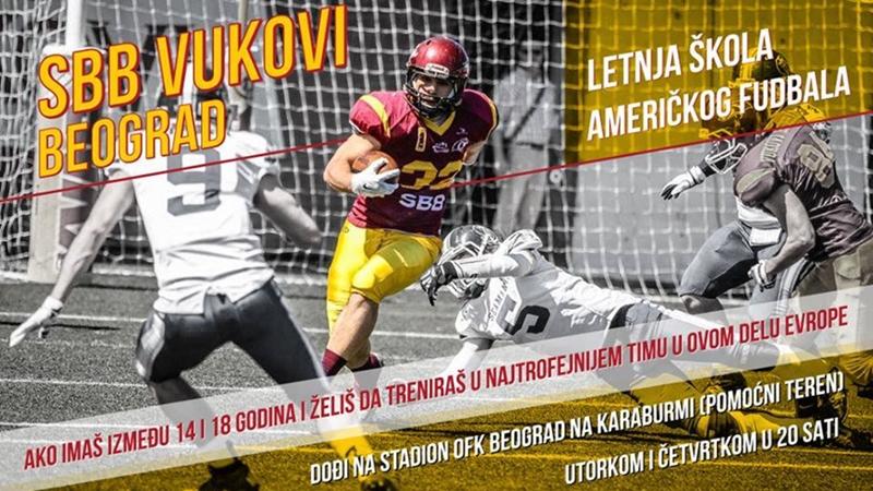 Letnja škola američkog fudbala u Vukovima